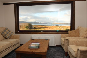 Panoramic sea views from the living room