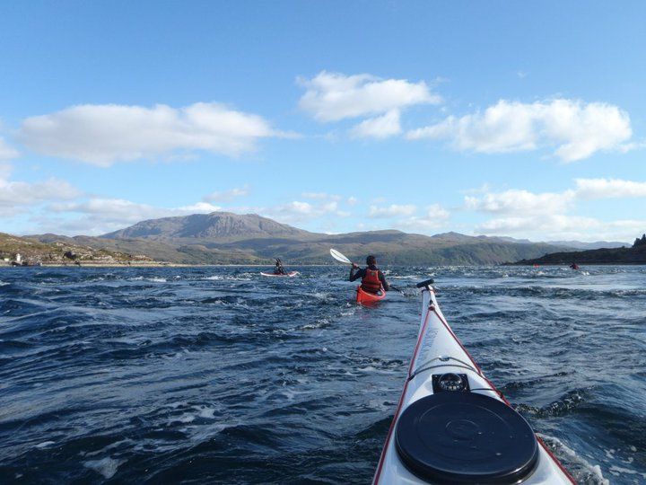 Sea kayaking around Skye