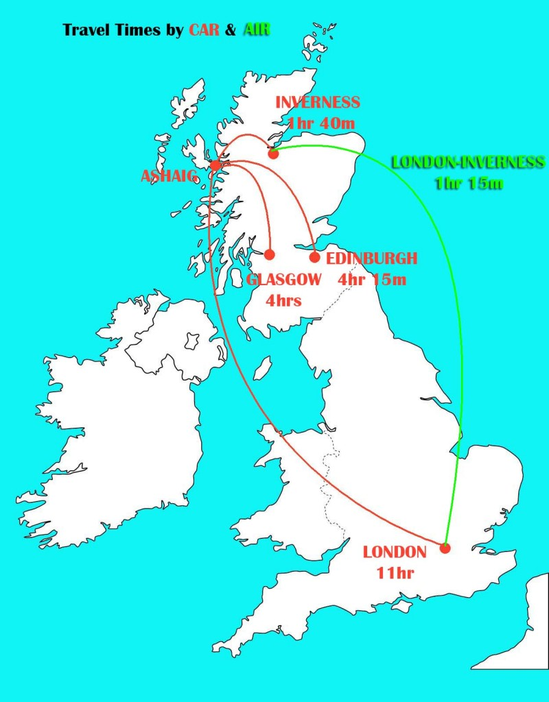 Travel times to Skye