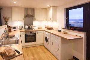 A brand new open-plan kitchen